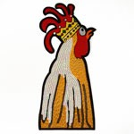 Rooster Cartoon Embroidered Seqiun Iron-On Patch by PC, TR-11281